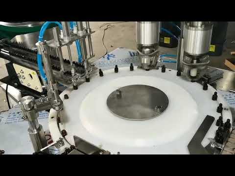 เต็มอัตโนมัติปริมาณขนาดเล็กน้ำมันหอมระเหยเครื่องบรรจุ capping