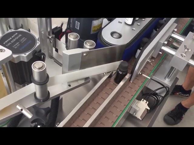 3000 bph แนวตั้งอัตโนมัติขวดขวดเครื่องติดฉลากสติกเกอร์