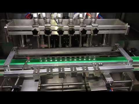 เครื่องดื่มแอลกอฮอล์เจลทำความสะอาดอัตโนมัติเครื่องบรรจุเจลสำหรับอุตสาหกรรมเคมีรายวัน