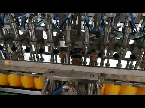 เครื่องบรรจุขวดอัตโนมัติ 12 หัวสำหรับซอสซอสน้ำมันเครื่องสำอาง